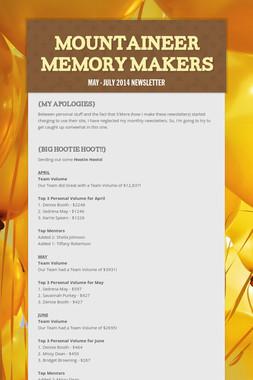 Mountaineer Memory Makers