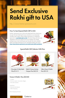 Send Exclusive Rakhi gift to USA
