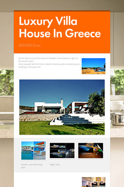 Luxury Villa House In Greece