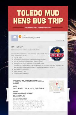 Toledo Mud Hens Bus Trip