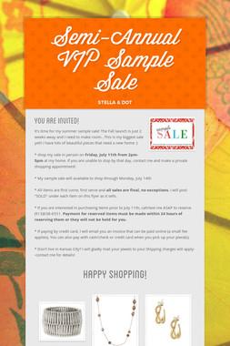 Semi-Annual VIP Sample Sale