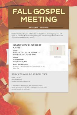 Fall Gospel Meeting