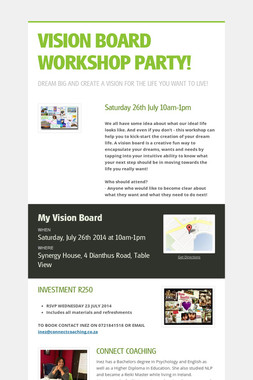 VISION BOARD WORKSHOP PARTY!