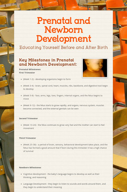 Prenatal and Newborn Development