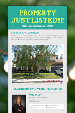 Property Just Listed!!!!