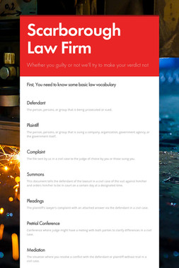 Scarborough Law Firm