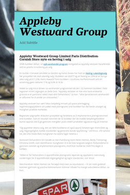 Appleby Westward Group