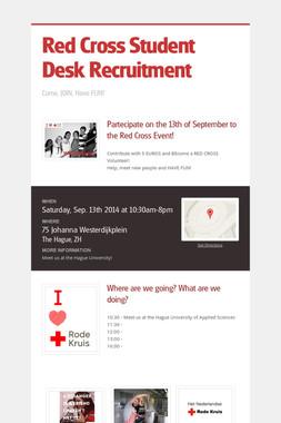 Red Cross Student Desk Recruitment