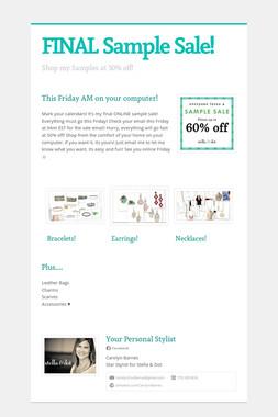 FINAL Sample Sale!