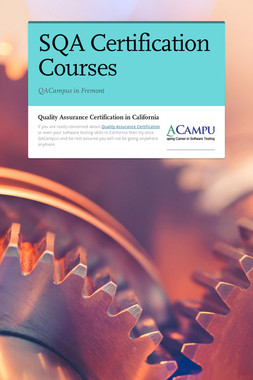 SQA Certification Courses