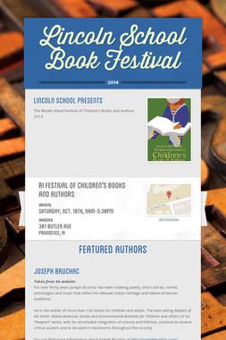 Lincoln School Book Festival