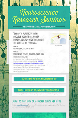Neuroscience Research Seminar