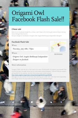 Origami Owl Facebook Flash Sale!!
