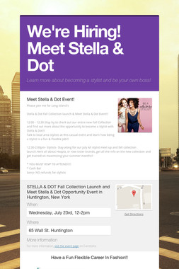 We're Hiring! Meet Stella & Dot
