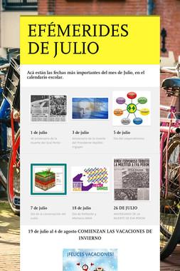 EFÉMERIDES DE JULIO