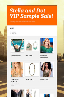 Stella and Dot VIP Sample Sale!