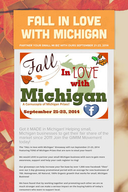 FALL in LOVE with Michigan