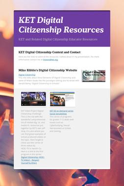 KET Digital Citizenship Resources