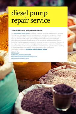 diesel pump repair service