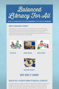 Balanced Literacy For All