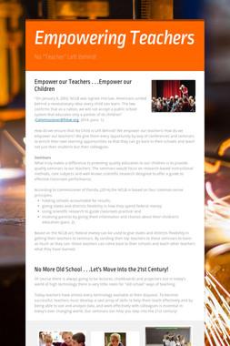 Empowering Teachers