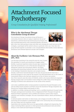 Attachment Focused Psychotherapy