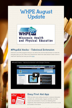 WHPE August Update