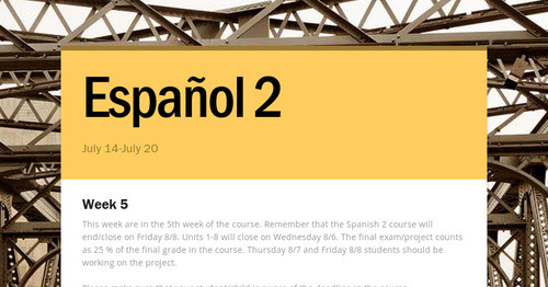 Español 2 | Smore Newsletters for Education