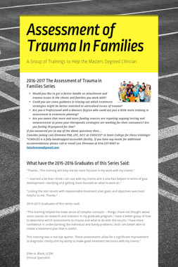 Assessment of Trauma In Families