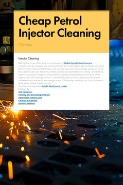 Cheap Petrol Injector Cleaning