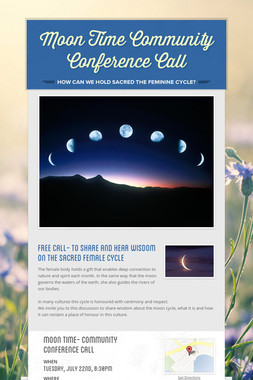 Moon Time Community Conference Call