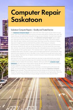 Computer Repair Saskatoon
