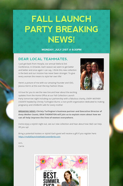 Fall Launch Party BREAKING NEWS!