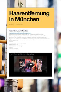 Haarentfernung in München