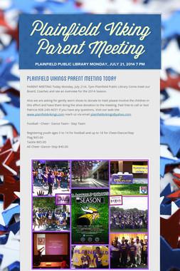 Plainfield Viking Parent Meeting