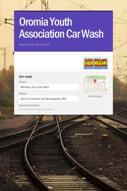 Oromia Youth Association Car Wash