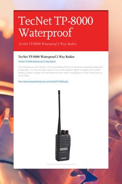 TecNet TP-8000 Waterproof