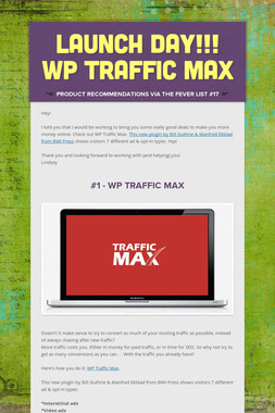 Launch Day!!! WP Traffic Max