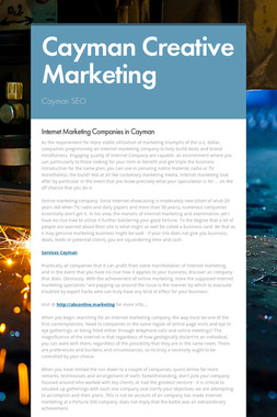 Cayman Creative Marketing