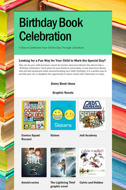 Birthday Book Celebration