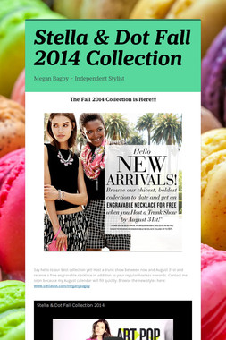 Stella & Dot Fall 2014 Collection