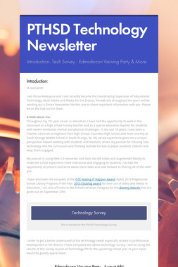 PTHSD Technology Newsletter