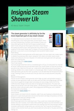 Insignia Steam Shower Uk