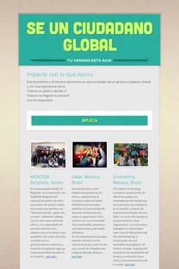 Se un Ciudadano Global