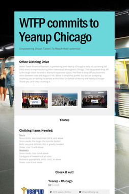 WTFP commits to Yearup Chicago