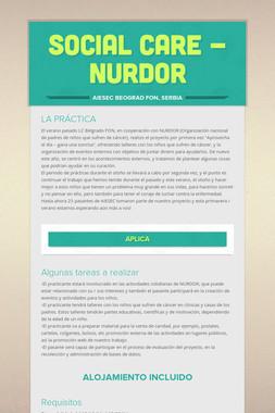 Social care - NURDOR