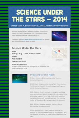 Science Under the Stars  - 2014