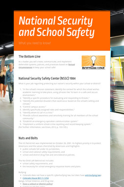 National Security and School Safety