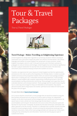 Tour & Travel Packages