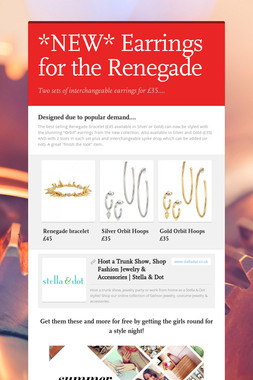 *NEW* Earrings for the Renegade